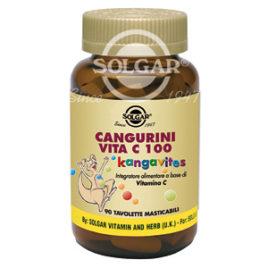 Cangurini Vita C 100 masticabile | Integratore Solgar