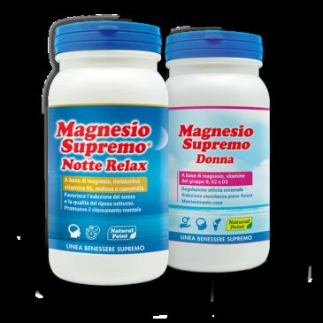 Magnesio Supremo Donna + Notte Relax | Prodotti Novità in Erboristeria Natureiki